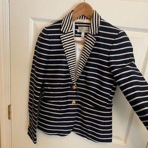 J.Crew Women's Schoolboy Nautical Stripe Blazer